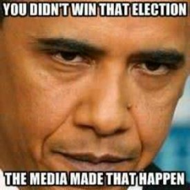 You didn't win that election.